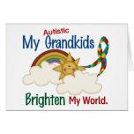 Autism BRIGHTEN MY WORLD 1 Grandkids Cards