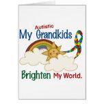 Autism BRIGHTEN MY WORLD 1 Grandkids Greeting Card