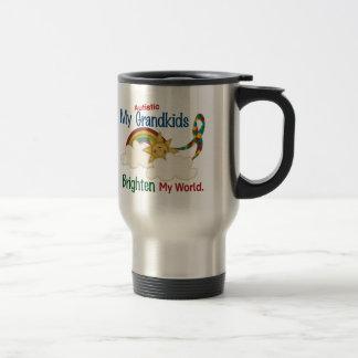 Autism BRIGHTEN MY WORLD 1 Grandkids Mug