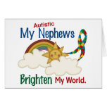 Autism BRIGHTEN MY WORLD 1 Nephews Greeting Card