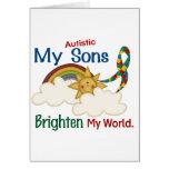 Autism BRIGHTEN MY WORLD 1 Sons Cards