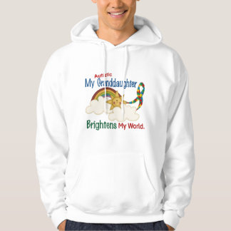 Autism BRIGHTENS MY WORLD 1 Granddaughter Hoodie