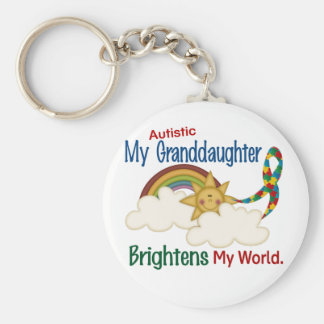 Autism BRIGHTENS MY WORLD 1 Granddaughter Key Ring