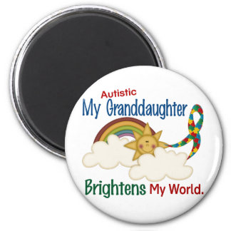 Autism BRIGHTENS MY WORLD 1 Granddaughter Magnet