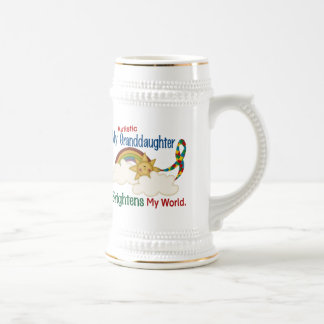 Autism BRIGHTENS MY WORLD 1 Granddaughter Coffee Mugs