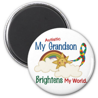 Autism BRIGHTENS MY WORLD 1 Grandson Magnet