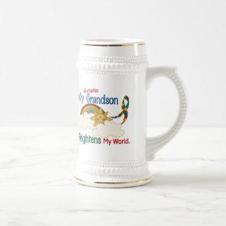 Autism BRIGHTENS MY WORLD 1 Grandson Beer Steins