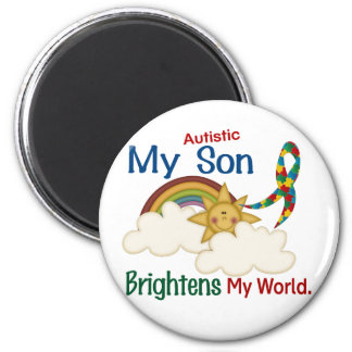 Autism BRIGHTENS MY WORLD 1 Son Magnet