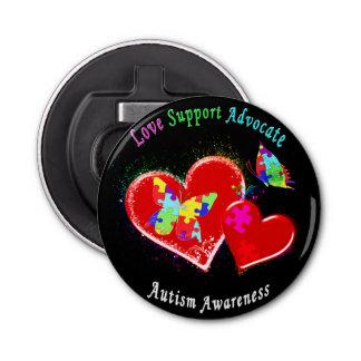 Autism Butterflies in Hearts Bottle Opener