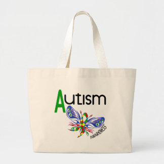 AUTISM Butterfly 3.1 Large Tote Bag