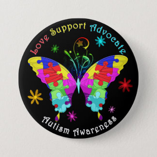 Autism Butterfly 7.5 Cm Round Badge