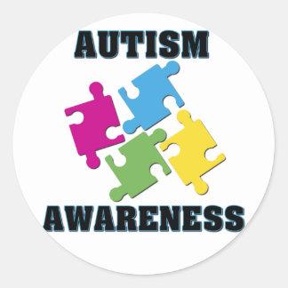 Autism Classic Round Sticker