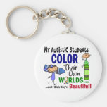 Autism COLOR THEIR OWN WORLDS Students Basic Round Button Key Ring