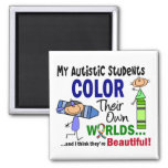 Autism COLOR THEIR OWN WORLDS Students Square Magnet