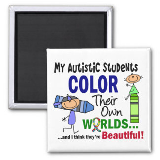 Autism COLOR THEIR OWN WORLDS Students Magnet