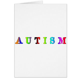 Autism Colorful Greeting Card