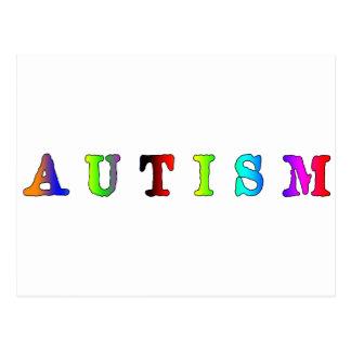 Autism Colorful Postcard