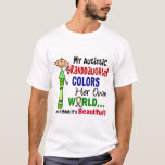 Autism COLORS HER OWN WORLD Granddaughter T-Shirt