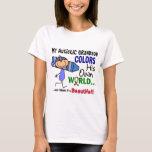 Autism COLORS HIS OWN WORLD Grandson T-Shirt