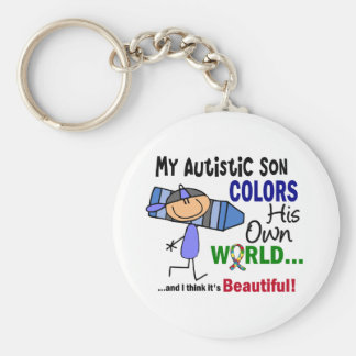 Autism COLORS HIS OWN WORLD Son Key Ring