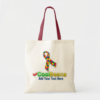 Autism Cool Beans  Budget Tote Bags