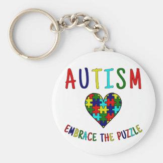 Autism Embrace The Puzzle Key Ring