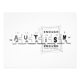 Autism Enough is enough 21.5 Cm X 28 Cm Flyer