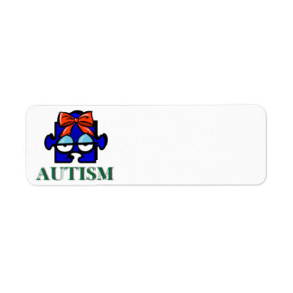 Autism Face Avery Label Return Address Label