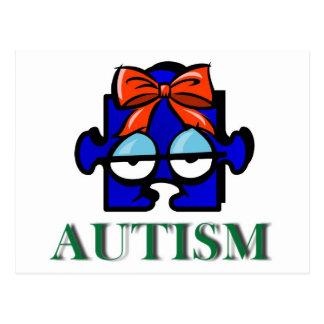 Autism Face Postcard