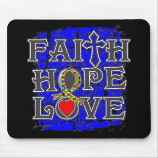 Autism Faith Hope Love Mouse Pads