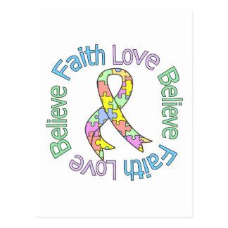 Autism Faith Love Believe Postcard
