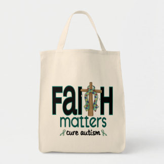 Autism Faith Matters Cross 1 Tote Bag