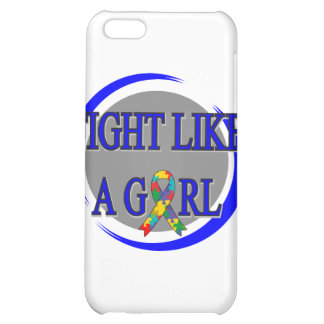 Autism Fight Like A Girl Circular iPhone 5C Case
