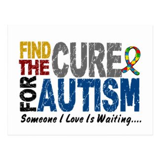 AUTISM Find The Cure 1 Postcard