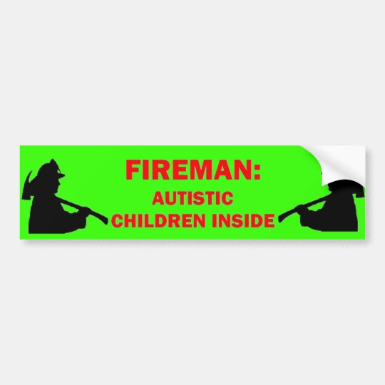 Autism Fire Safety Bumper Sticker