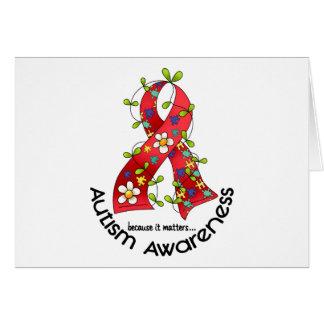 AUTISM Flower Ribbon 1 Card
