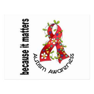 Autism Flower Ribbon 3 Postcard