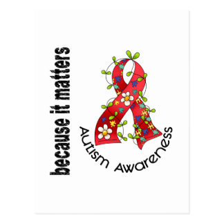 Autism Flower Ribbon 3 Postcard