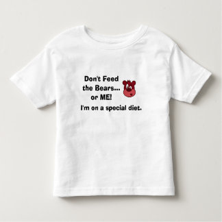 Autism GFCF Diet kids shirt Don't Feed the Bears