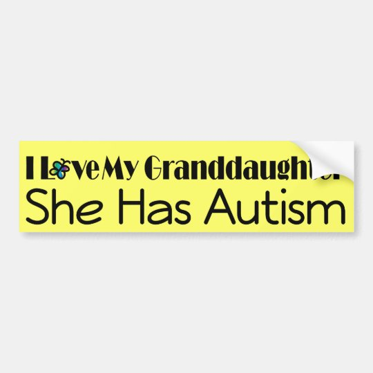Autism Granddaughter Support Autistic Spectrum Bumper Sticker