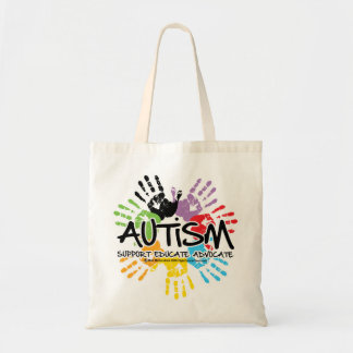 Autism Handprint Tote Bag