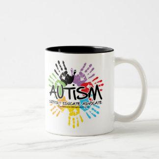 Autism Handprint Two-Tone Mug