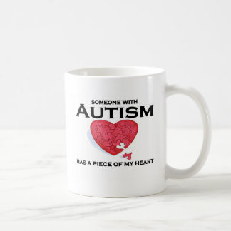 Autism has a piece of my heart coffee mug