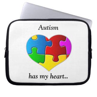 Autism has my heart....case/sleeve laptop sleeve