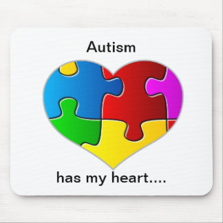 Autism has my heart mouse pad... mouse mat