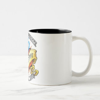 autism heart tatoo Two-Tone coffee mug