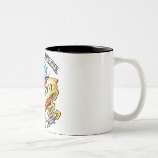 autism heart tatoo Two-Tone mug