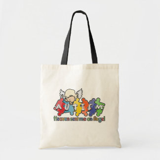 Autism Heaven Sent Me An Angel Tote Bags