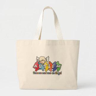 Autism Heaven Sent Me An Angel Jumbo Tote Bag