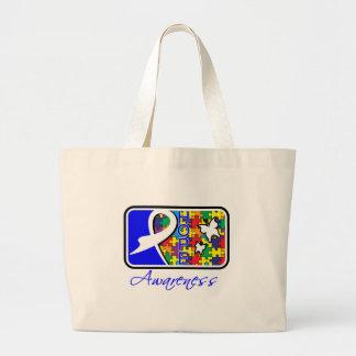 Autism Hope Awareness Tile Tote Bag